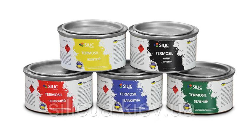 Термостойкая кремний органическая эмаль Thermosil 650 алюминиевая (банка 1 кг.), фото 2