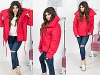 "Куртка-пуховик ""Аляска"", модная женская куртка. Размеры: норма, батал. Разные цвета."