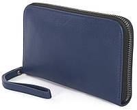 Надежный кожаный кошелек-клатч Tucano Sicuro Premium Pochette TVA-SIPP-B синий
