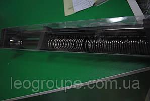 Карниз кованый  раздвижной черный никель двойной