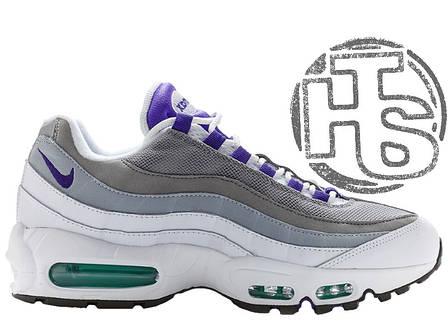 Женские кроссовки Nike Air Max 95 OG Grape White/Gray/Purple 554970-151, фото 2