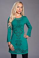 Платье женское модель №345-1,р.46 бирюза