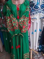 Платье вышитое в стиле бохо