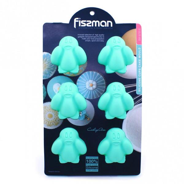 Форма для выпекания кексов Fissman ПИНГВИНЫ (Силикон)