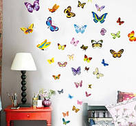 Набор декоративных наклеек  бабочек
