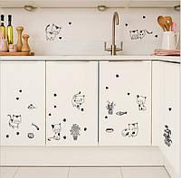 Набор интерьерных наклеек Черно-белые котенки
