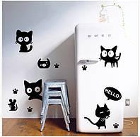 Набор интерьерных наклеек Смешные котики