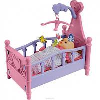 Кроватка для куклы 008-10 с мобилем каруселью