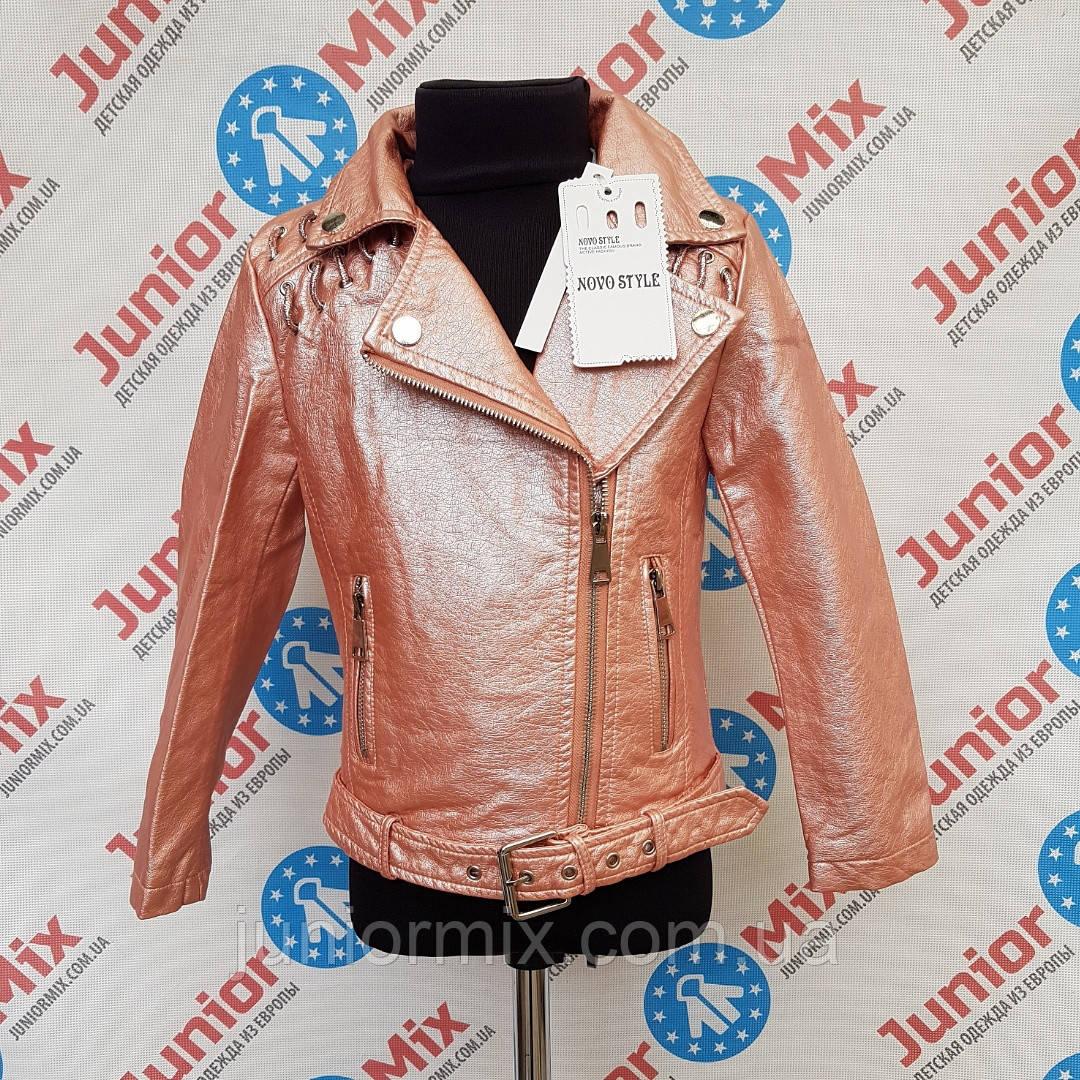 Подростковые  куртки косухи из кожзама  для девочек оптом  NOVO STYLE
