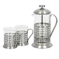 "Набор чайник и 2 стакана ""Check"" (600 + 2х200 мл.)"