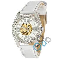 Часы наручные женские Omega Diamonds White-Silver