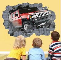 Интерьерная наклейка на стену Машина 3D