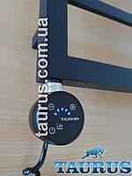 Чёрный электроТЭН TERMA MOA IR black с регулятором + таймер 2ч. + под пульт ДУ + звук. Мощность от 100-1000Вт.