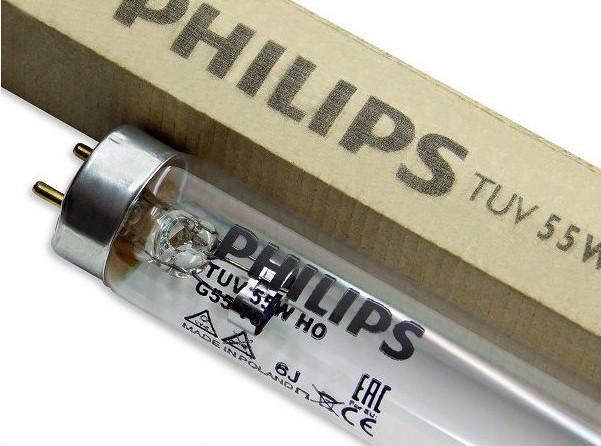 Лампа бактерицидная Philips TUV 55W HO G13