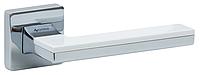 Дверные ручки SYSTEM LARISSA CR/CR/AL7 - хром/хром/белая, фото 1