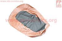 Чехол сиденья Юпитер-5 (эластичный, прочный материал) черный/коричневый на мотоцикл ИЖ
