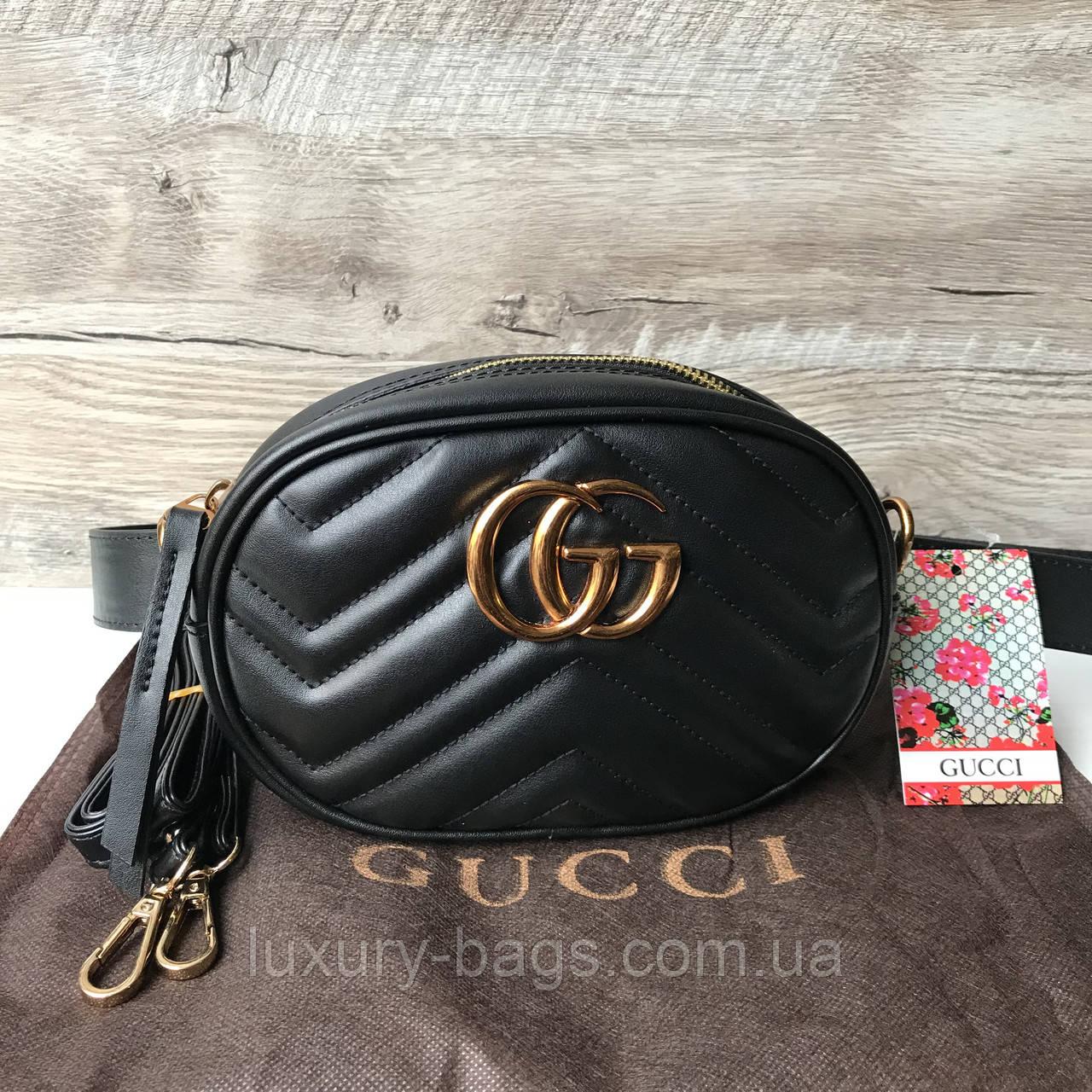 239e1e353925 Женская сумка на пояс Gucci Marmont Гуччи, цена 788 грн., купить в ...