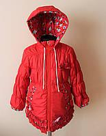 Куртка на девочку,детская,с флисом, фото 1