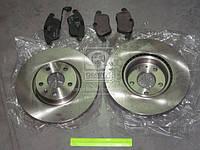 Комплект тормозной передн. AUDI Q3, VW JETTA, SKODA YETI (пр-во REMSA) 81219.02
