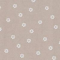 Ткань равномерного переплетения Zweigart Murano Lugana 32 ct. 3984/7399 Beige bis/white flowers (Бежевый в бел