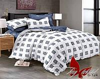 Комплект евро постельного белья из сатина (пододеяльник 200х220)