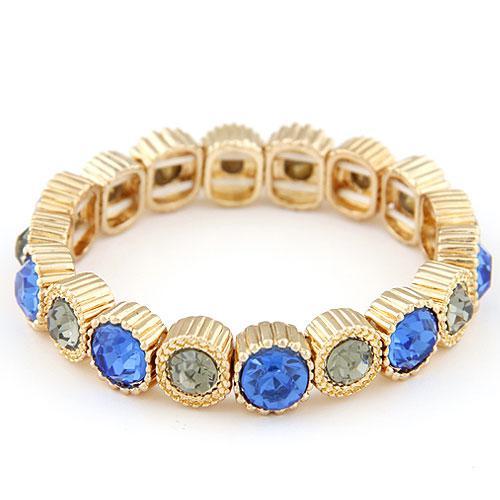 Браслет Голубая роскощь вечерний с голубыми камнями B004893