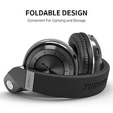 Навушники (гарнітура) Bluedio T2s Black, фото 3