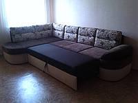 Качественная перетяжка угловых диванов любой сложности. Перетяжка мягкой мебели Днепр, фото 1