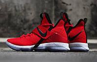 Кроссовки мужские баскетбольные Nike LeBron 14 University Red (найк леброн)