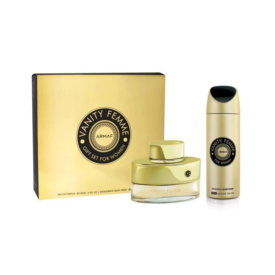 Парфюмированный набор для женщин Armaf VANITY FEMME  (edt 100 ml+b/s 200 ml)