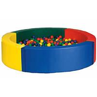 Сухой бассейн с матом круглый