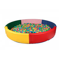 Сухой бассейн круглый с матом 200х40 см