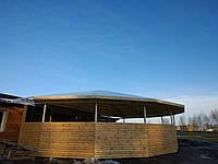Тентовый навес + шторы из прозрачного ПВХ материала