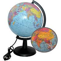 Глобус 22 см политический с подсветкой