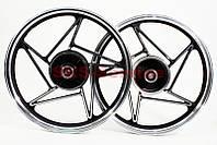 "Диск колесный задний литой 18Х1,85 ""под резинки"" Viper-125J (ось 15мм) на мотоцикл VIPER -125-150-200-250-J двигатель СВ-125сс-150cc-200сс-250cc"