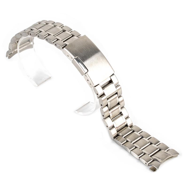 Браслет для часов из нержавеющей стали, литой, заокругленный, мат. 18 мм