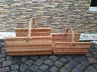Плетеные дровницы из цельной лозы