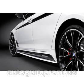 Накладки боковых порогов M Performance для BMW 5 (G30)