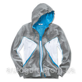 Толстовка унисекс BMW i Unisex Hooded Jacket Grey White Blue