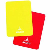 Карточки арбитра SELECT, один комплект, желт/красн