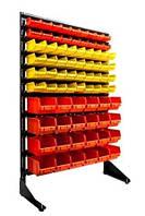 Стеллаж под метиз с ящиками пластиковыми Арт 15-78ЖО Щорс
