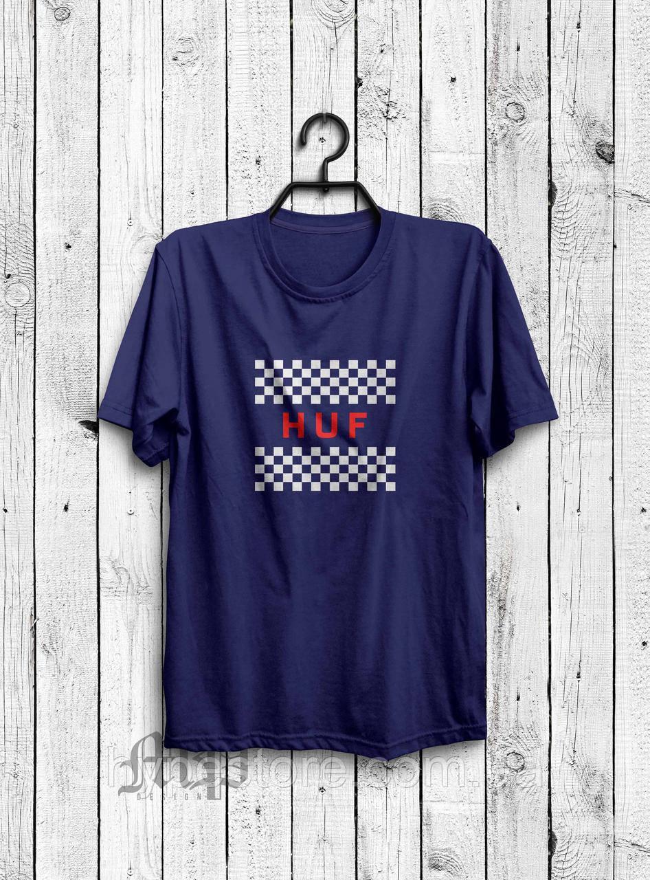 Хайповая мужская футболка Huf (темно-синий), Реплика