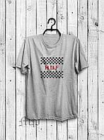 Хайповая мужская футболка Huf (серый), Реплика