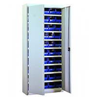 Шкаф инструментальный с пластиковыми кюветами для хранения метизов АСШ-50
