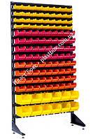 Контейнеры складские на стеллаже пристенном 1800 мм на 120 боксов Шумск