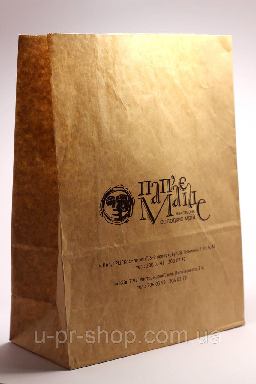 Крафт пакети на винос без ручок 250х350х150мм