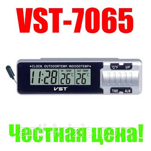 Авточасы VST 7065, оригінал, датчик внутрішньої і зовнішньої температури!