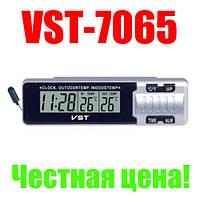 Авточасы VST 7065, оригинал, датчик внутренней и наружной температуры!