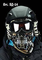 Балаклава лыжная, для сноуборда, маска, подшлемник с оригинальным 3D принтом