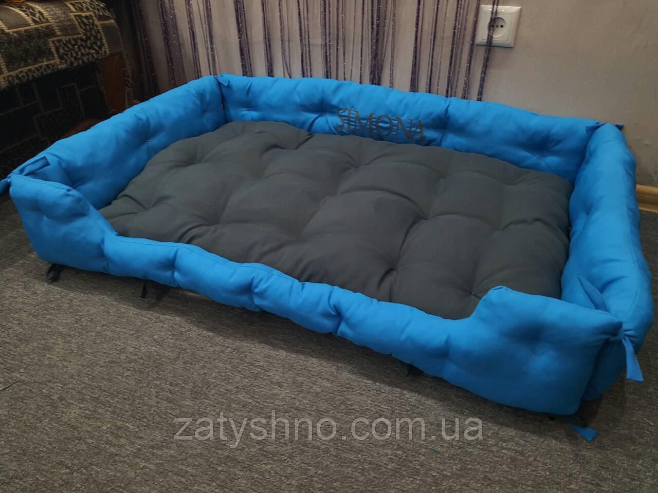 Лежак для животных синий